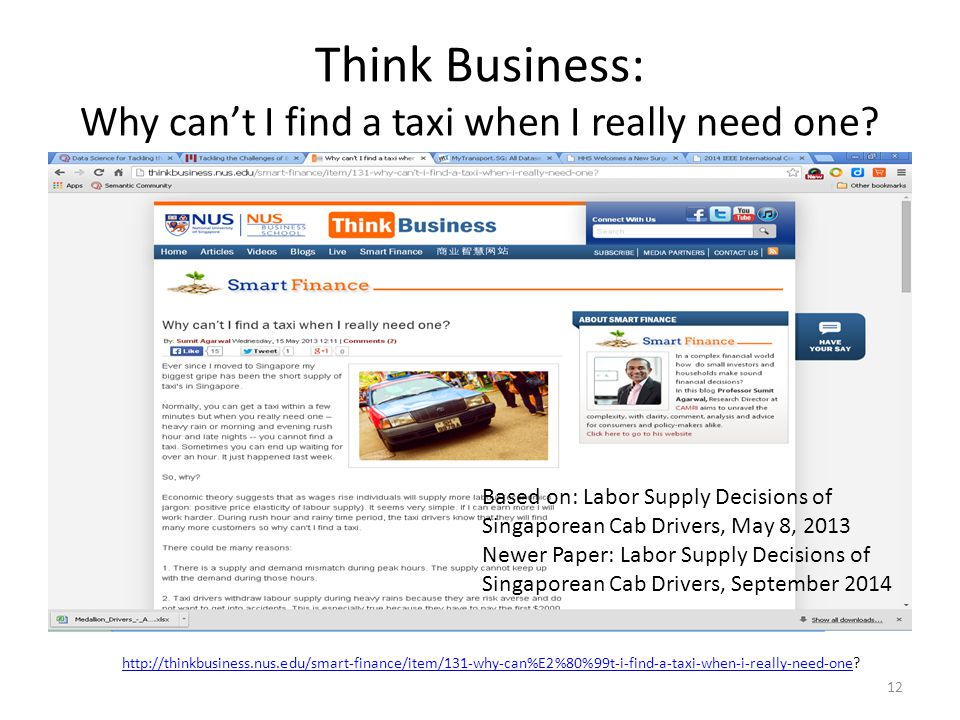 Think Business: Why can't I find a taxi when I really need one
