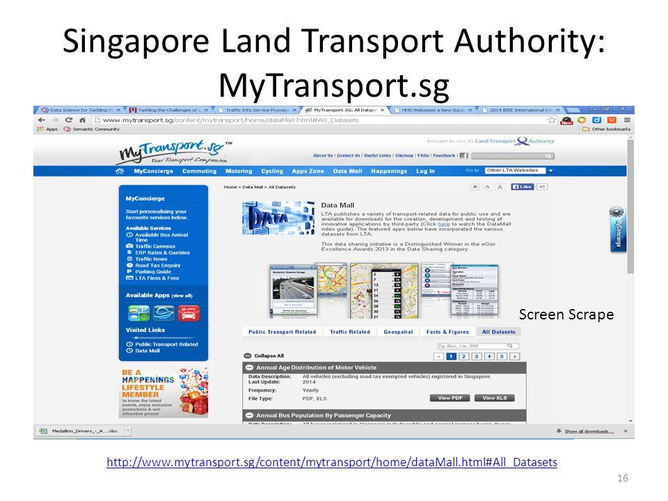 Singapore Land Transport Authority: MyTransport.sg