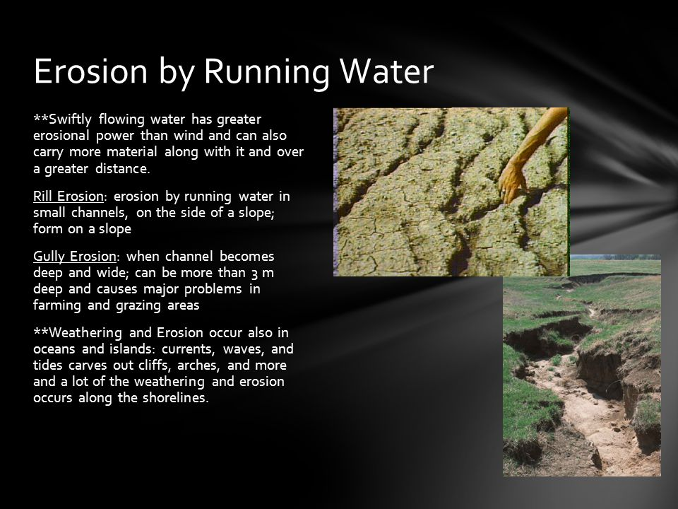 Erosion by Running Water