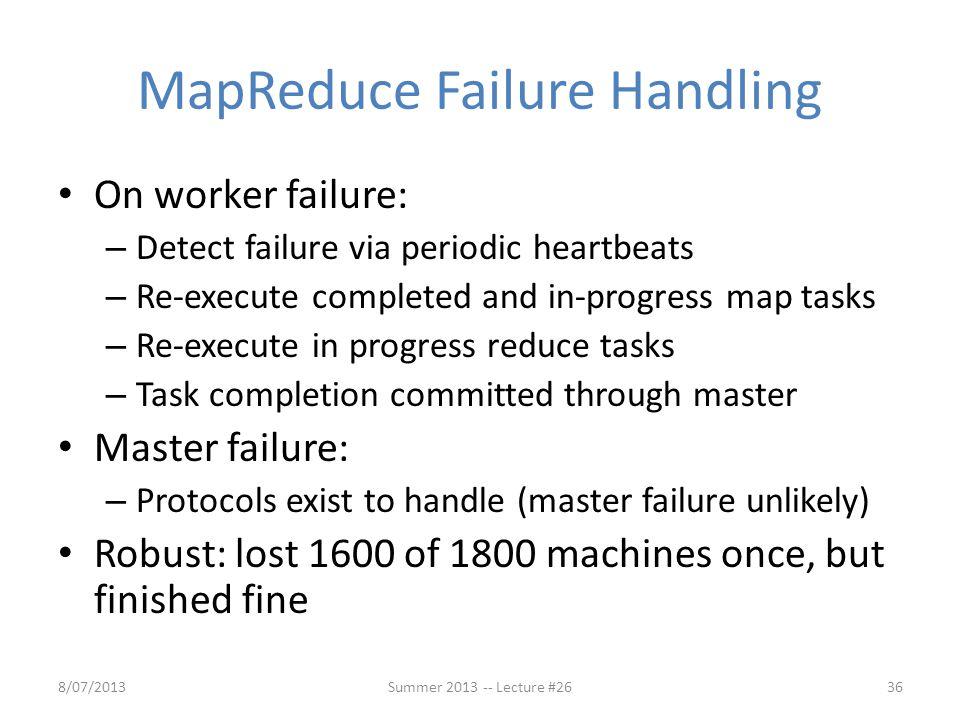 MapReduce Failure Handling