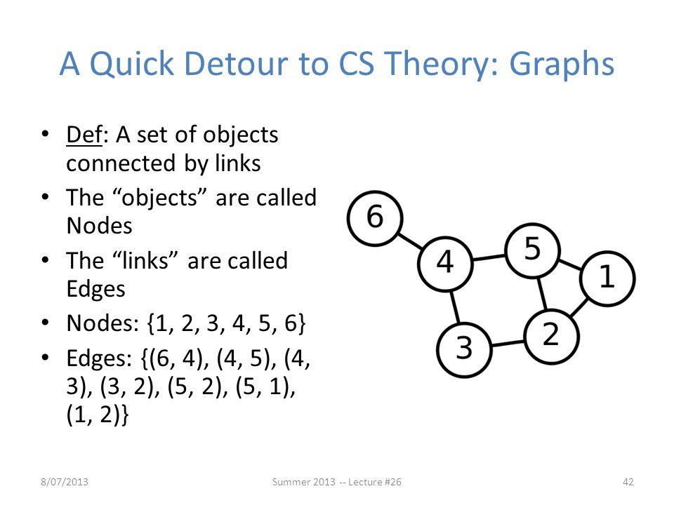 A Quick Detour to CS Theory: Graphs