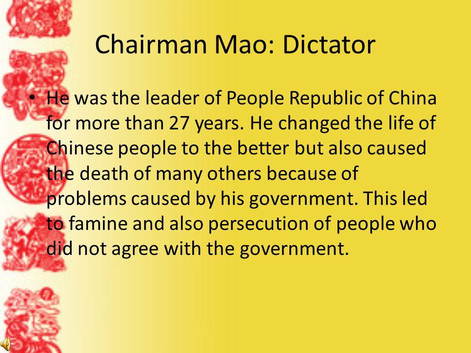 Chairman Mao: Dictator