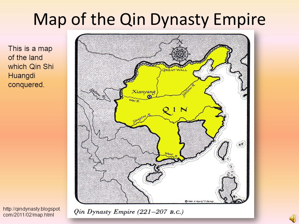 Map of the Qin Dynasty Empire