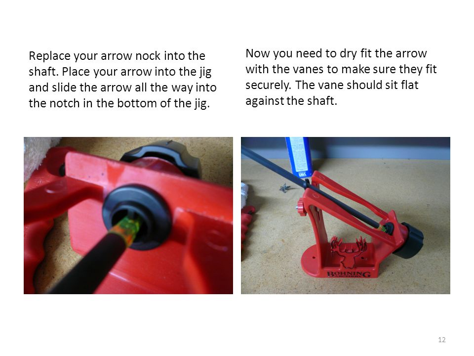 Replace your arrow nock into the shaft