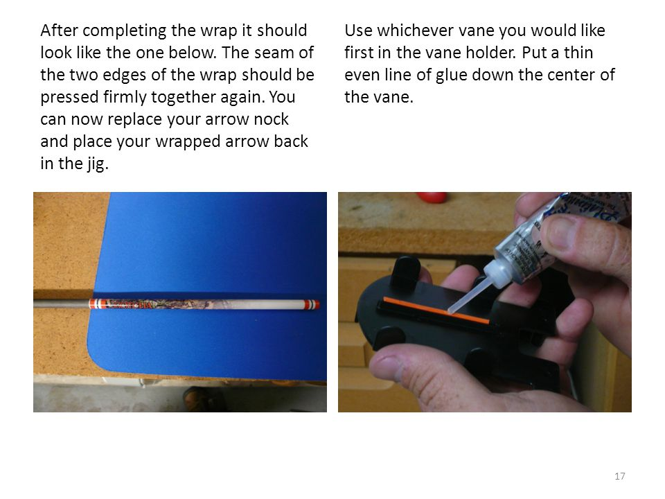 Use whichever vane you would like first in the vane holder