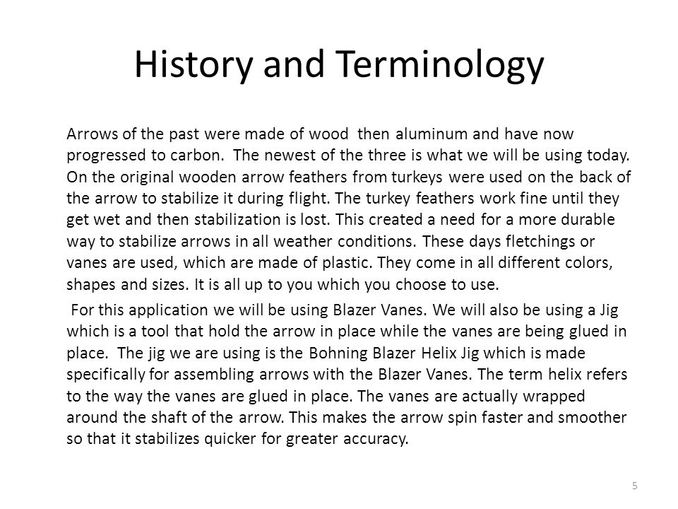History and Terminology