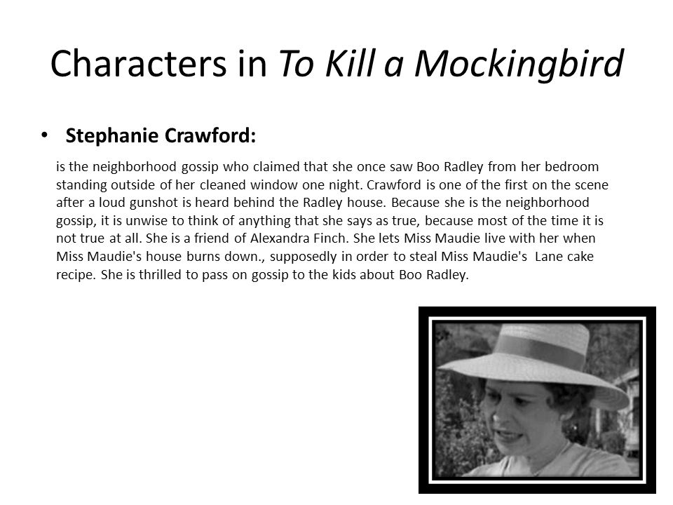 Characters in To Kill a Mockingbird