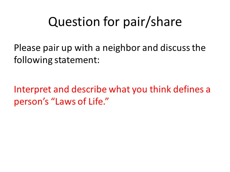 Question for pair/share