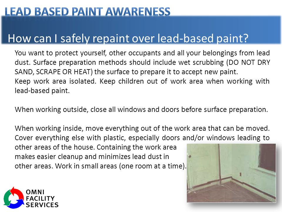How can I safely repaint over lead-based paint