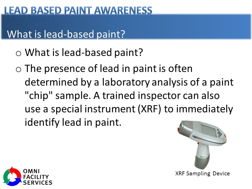What is lead-based paint