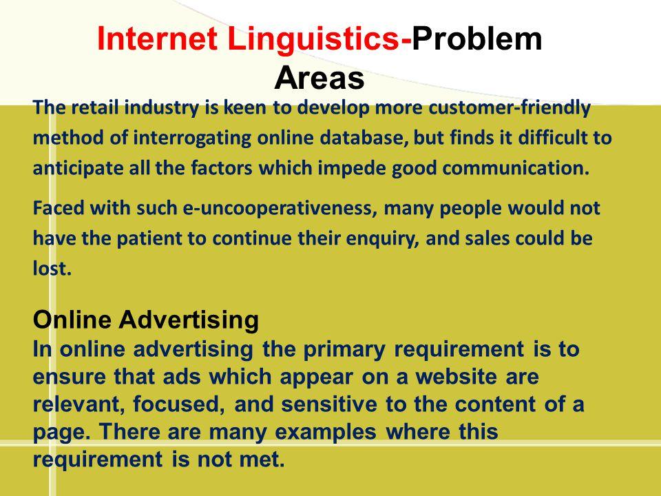 Internet Linguistics-Problem Areas