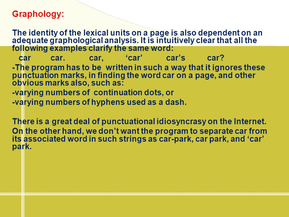 Graphology: