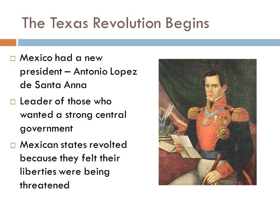 The Texas Revolution Begins