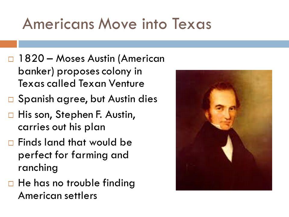 Americans Move into Texas
