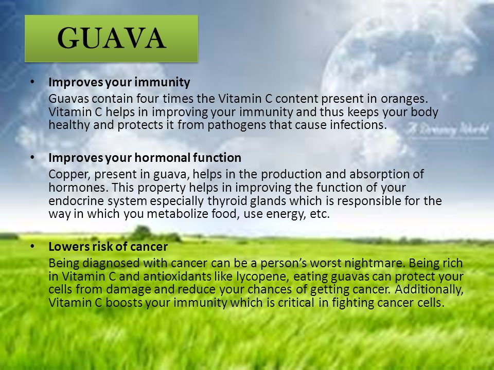 GUAVA Improves your immunity