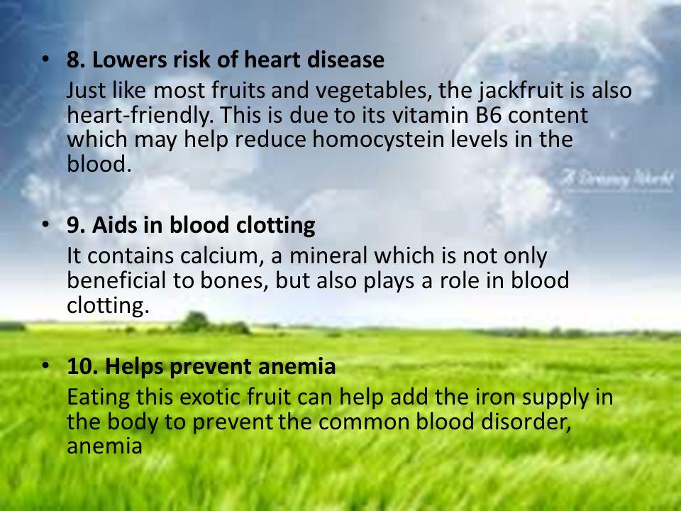 8. Lowers risk of heart disease