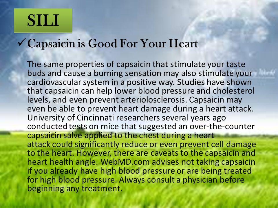 SILI Capsaicin is Good For Your Heart