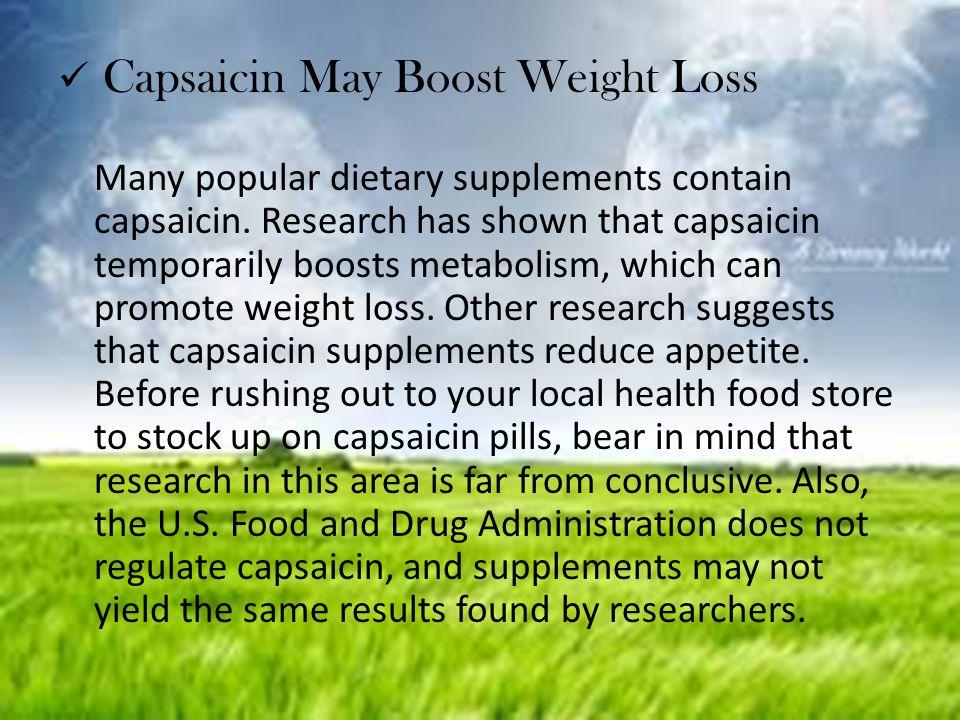 Capsaicin May Boost Weight Loss