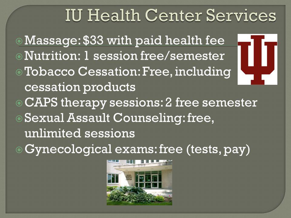 IU Health Center Services
