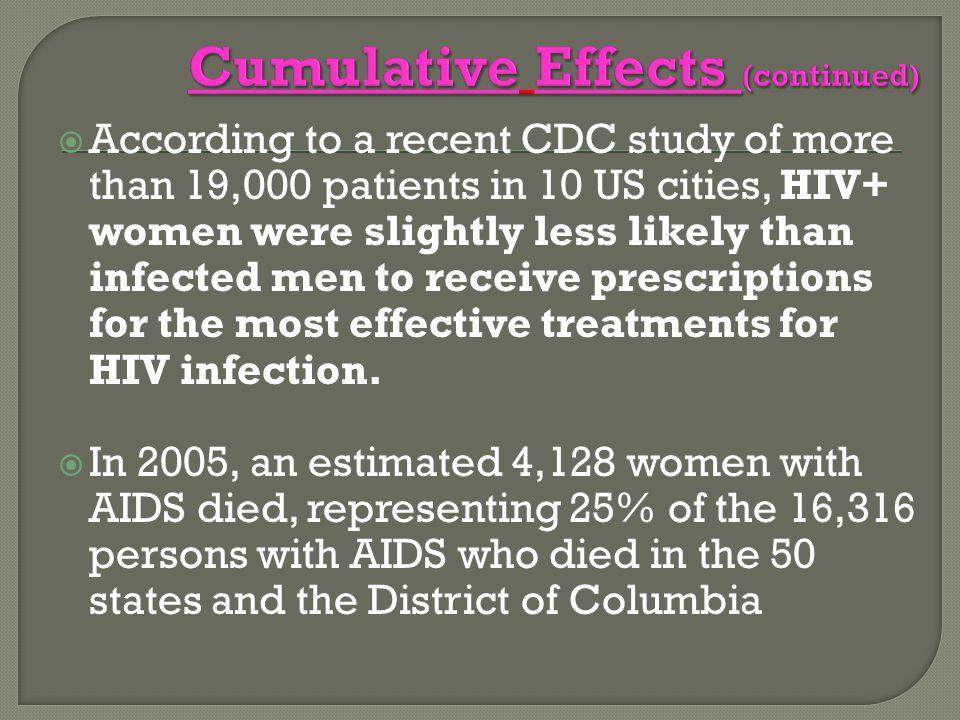 Cumulative Effects (continued)