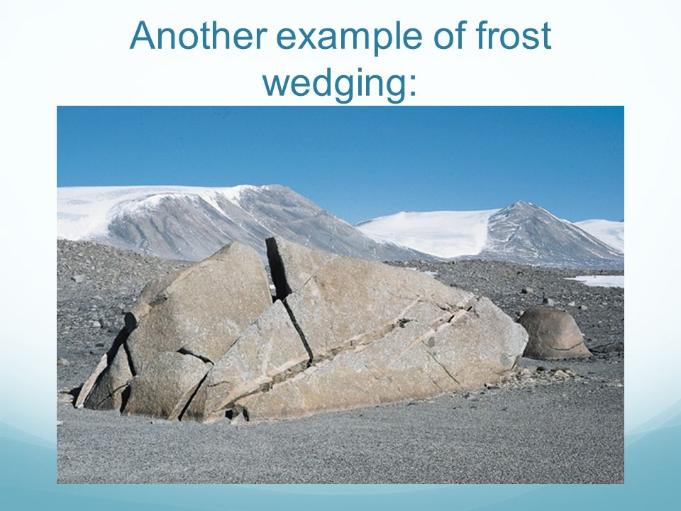 Another example of frost wedging: