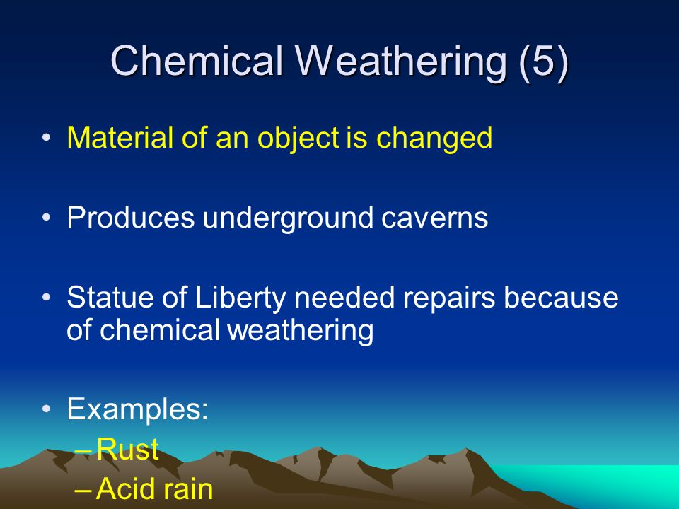 Chemical Weathering (5)