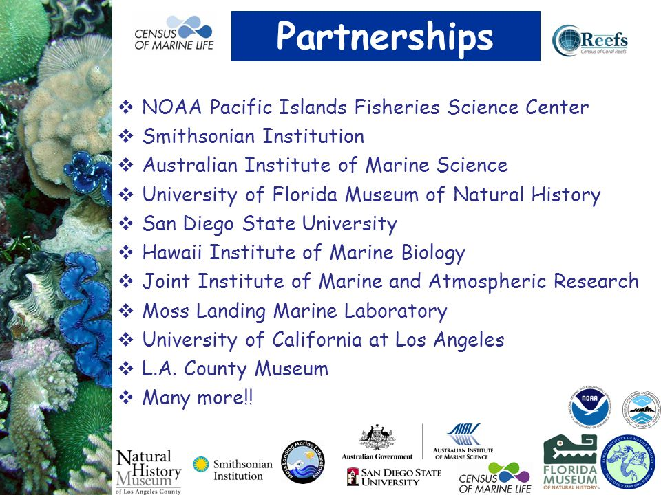 Partnerships NOAA Pacific Islands Fisheries Science Center