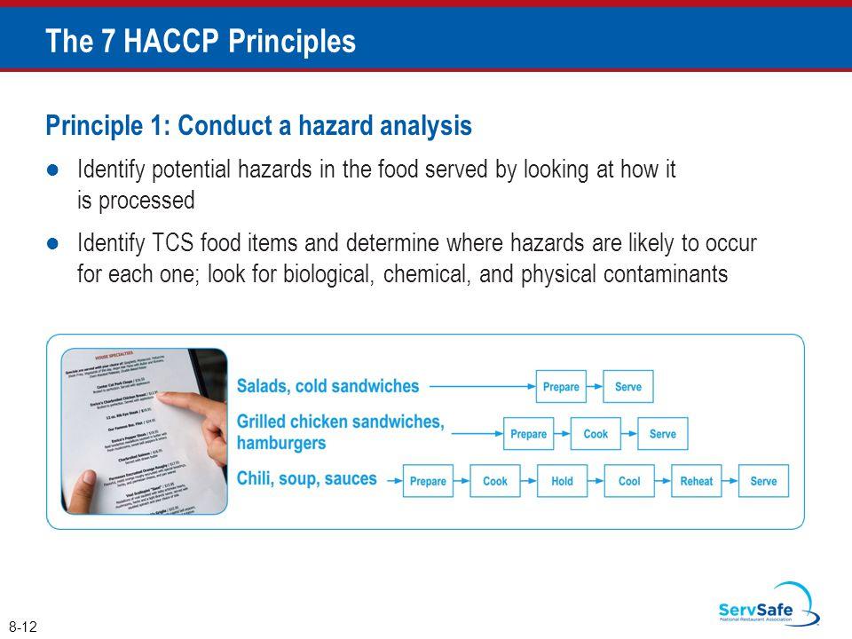 The 7 HACCP Principles Principle 1: Conduct a hazard analysis