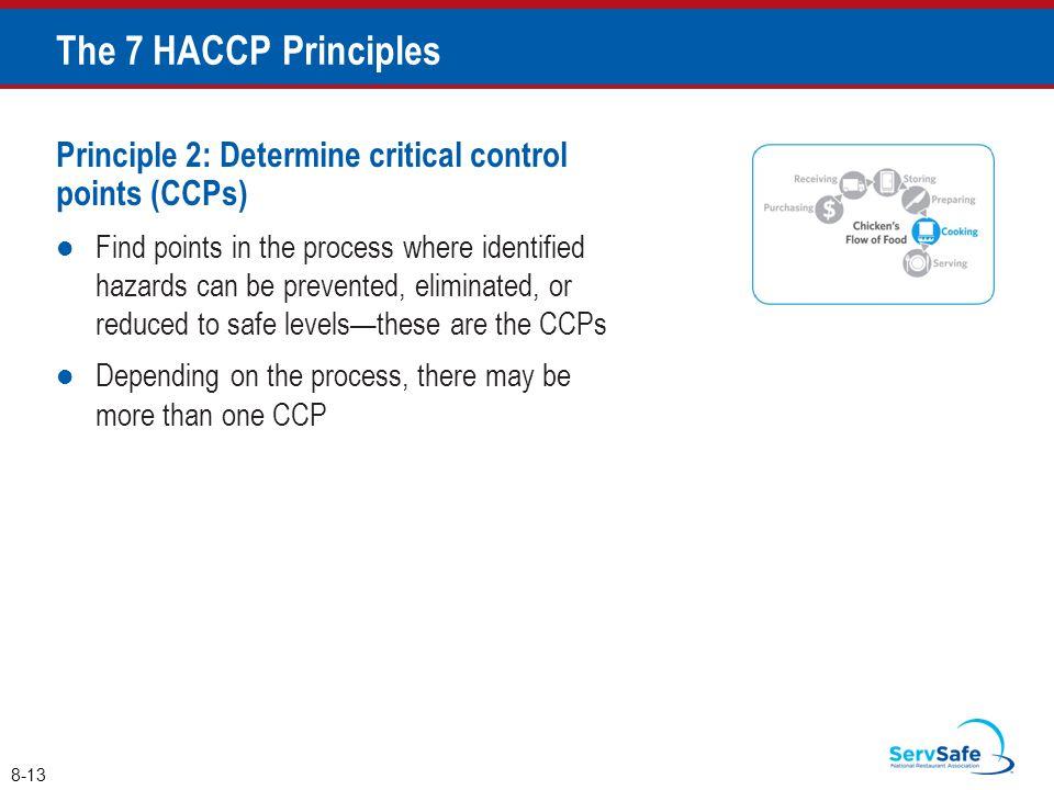 The 7 HACCP Principles Principle 2: Determine critical control points (CCPs)