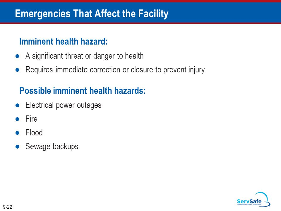 Emergencies That Affect the Facility