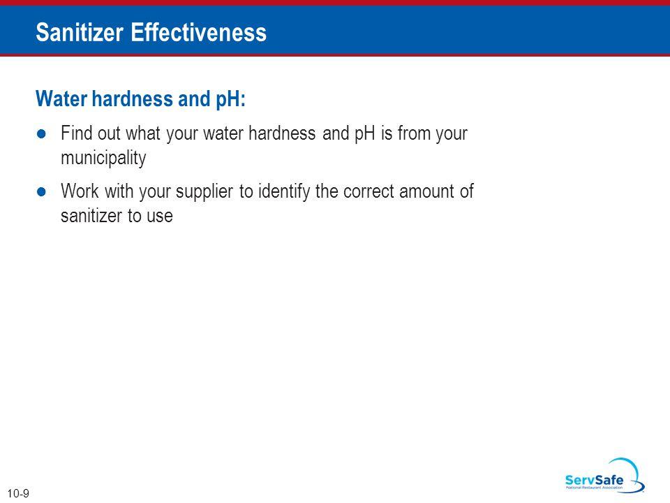 Sanitizer Effectiveness