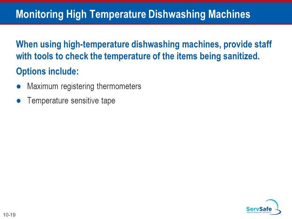 Monitoring High Temperature Dishwashing Machines