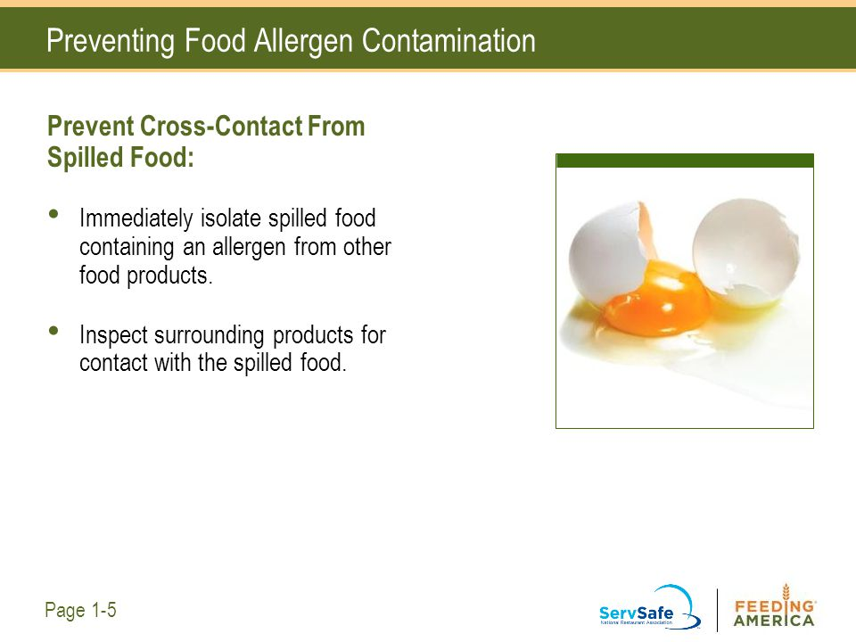 Preventing Food Allergen Contamination