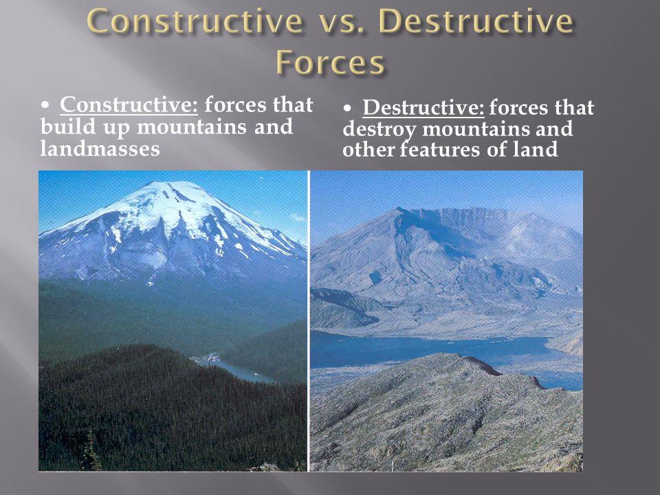 Constructive vs. Destructive Forces