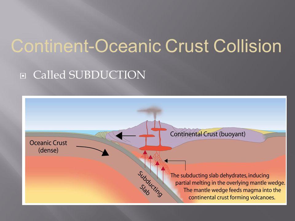 Continent-Oceanic Crust Collision