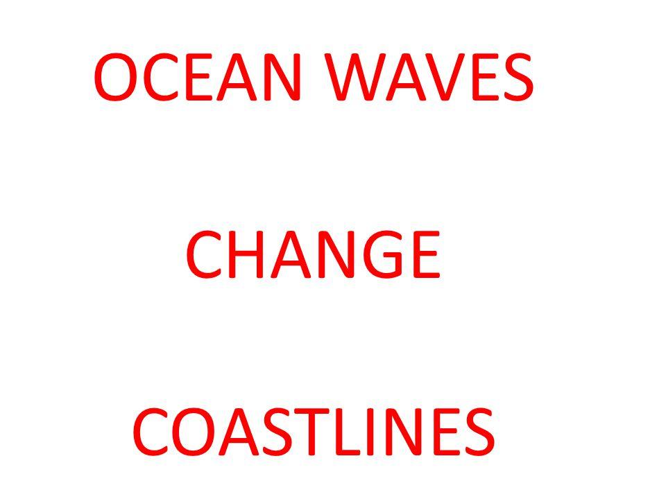 OCEAN WAVES CHANGE COASTLINES