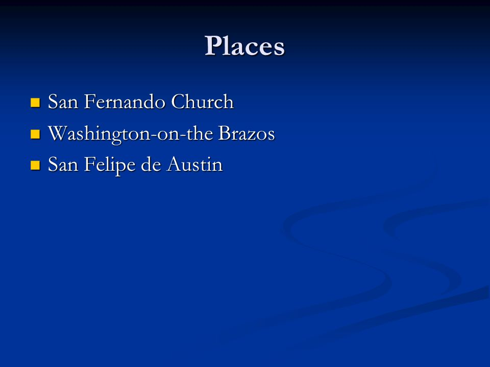 Places San Fernando Church Washington-on-the Brazos