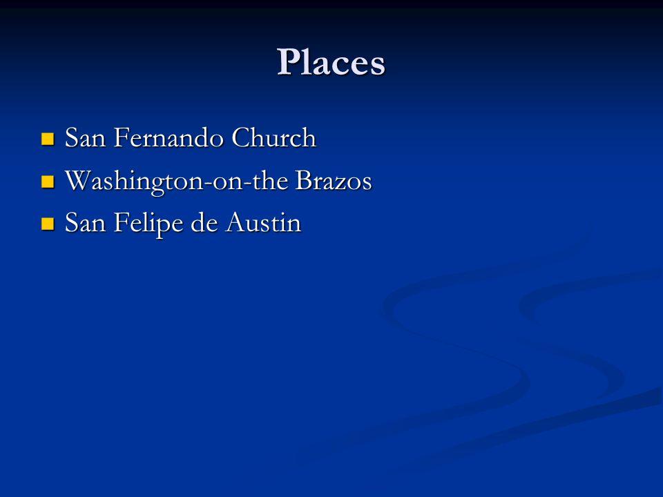 Places San Fernando Church Washington-on-the Brazos