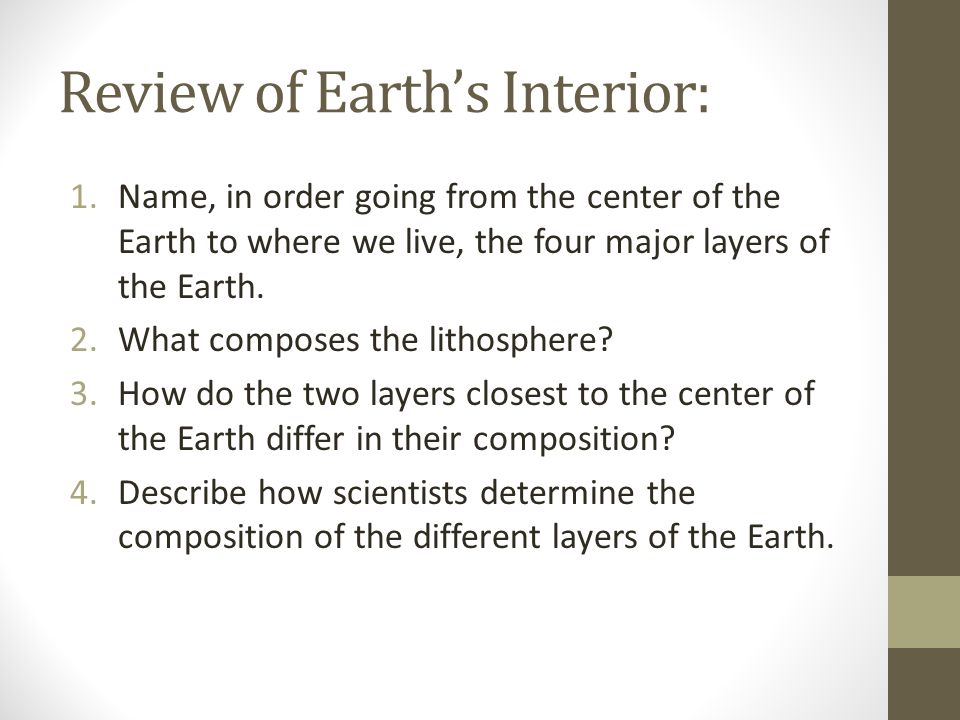 Review of Earth's Interior: