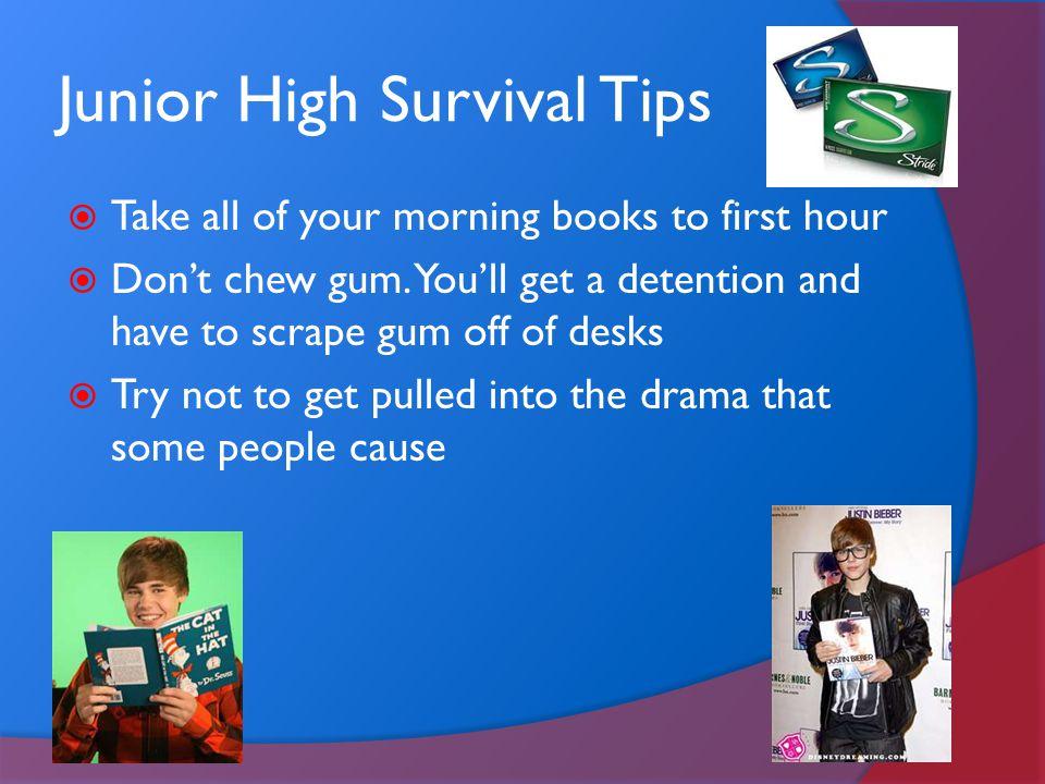 Junior High Survival Tips