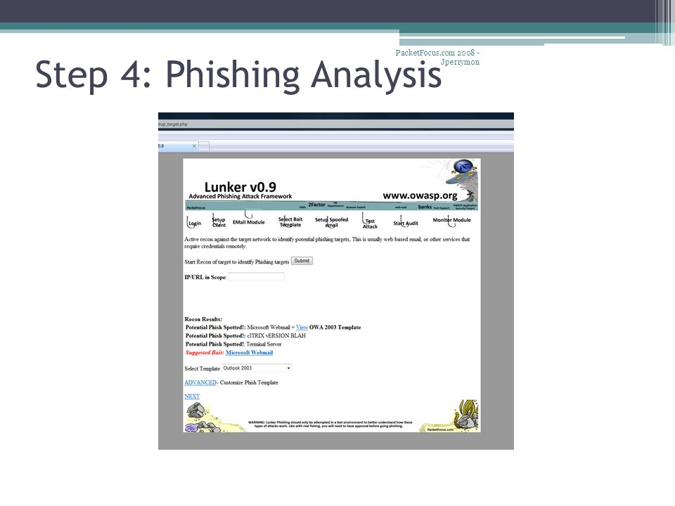 Step 4: Phishing Analysis