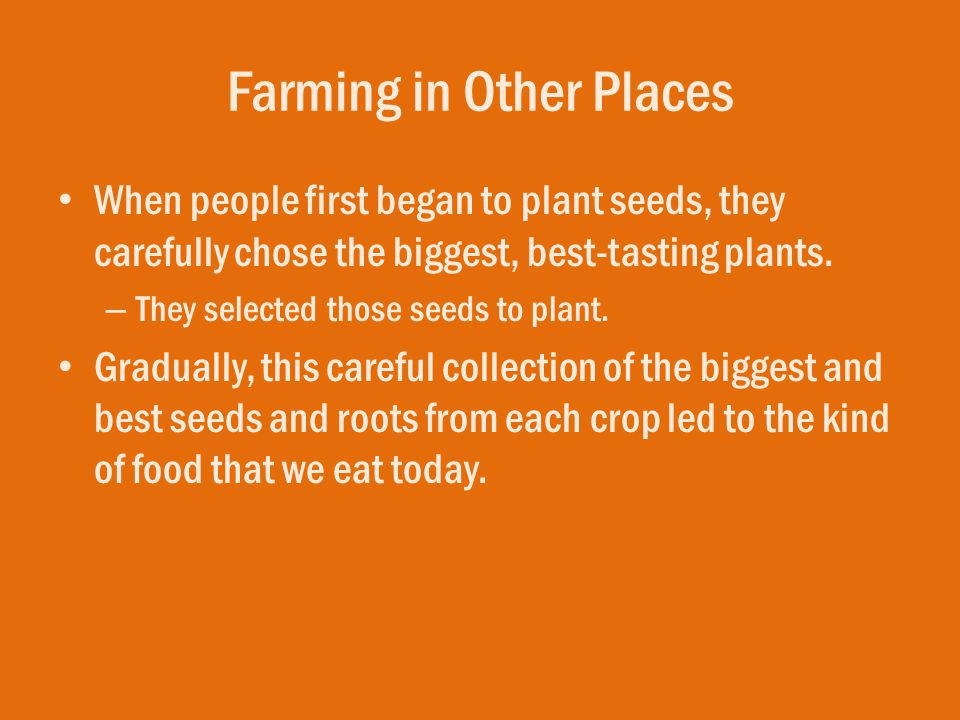 Farming in Other Places