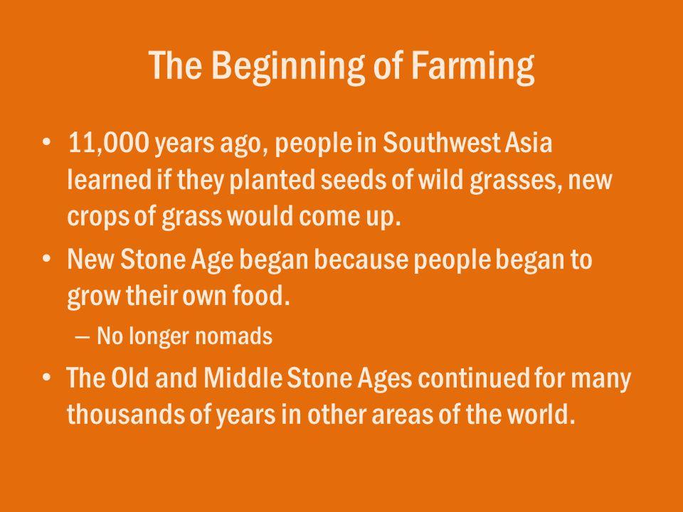 The Beginning of Farming