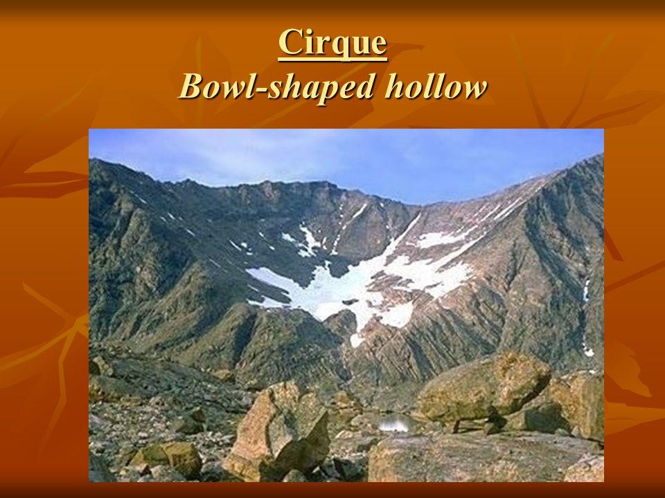 Cirque Bowl-shaped hollow