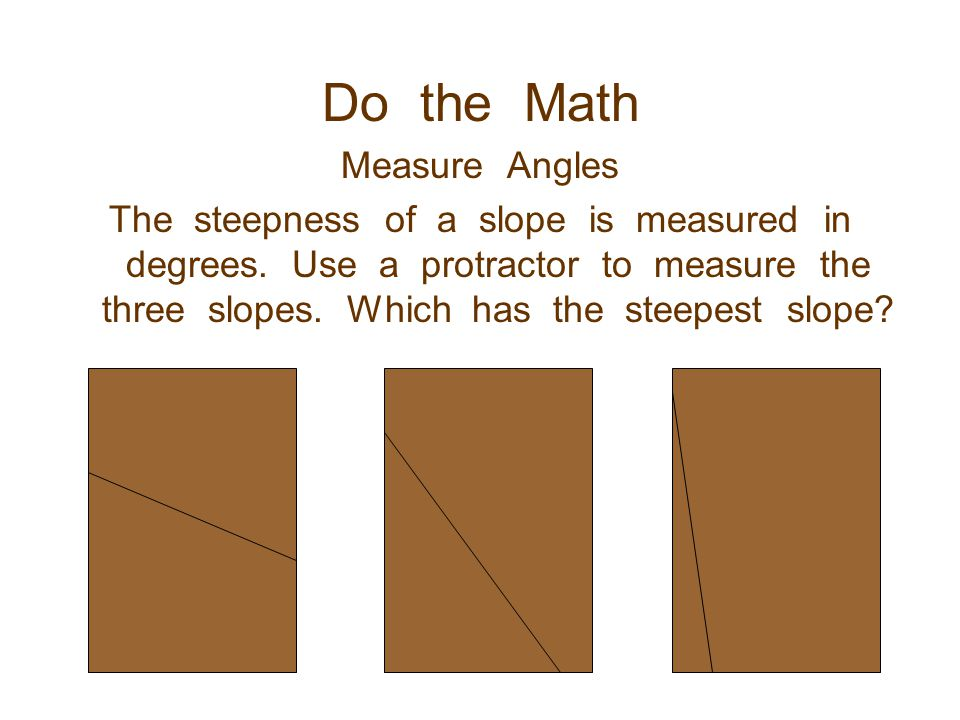 Do the Math Measure Angles
