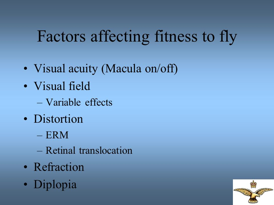 Factors affecting fitness to fly