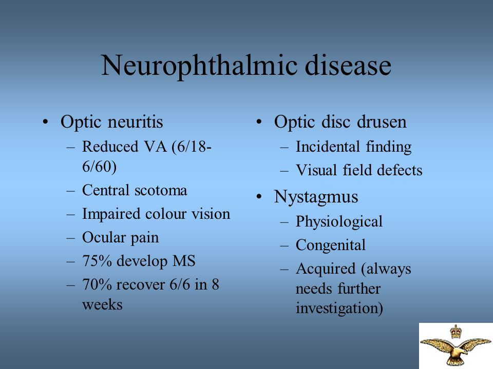 Neurophthalmic disease