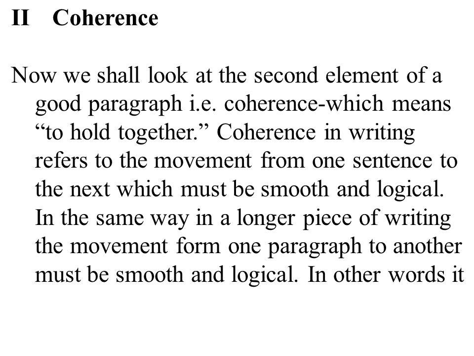 II Coherence