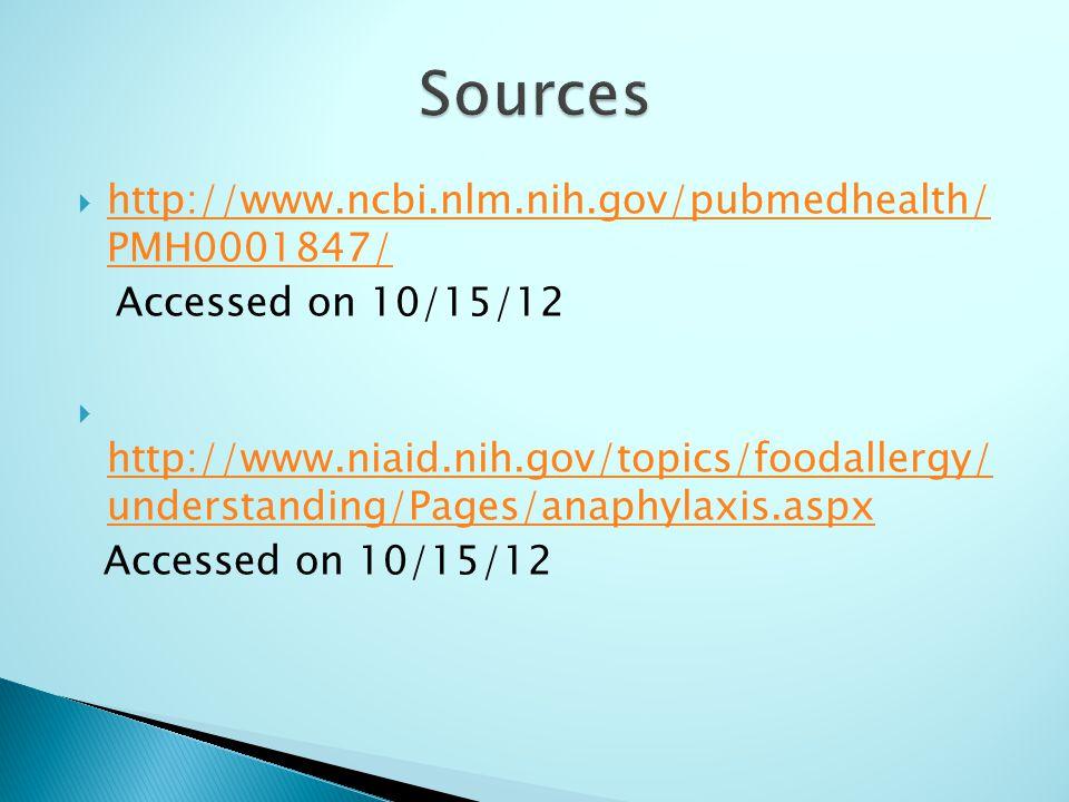 Sources http://www.ncbi.nlm.nih.gov/pubmedhealth/ PMH0001847/