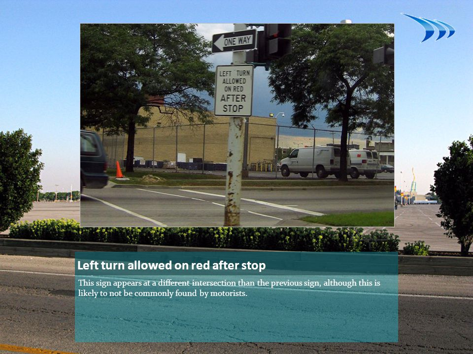 Left turn allowed on red after stop